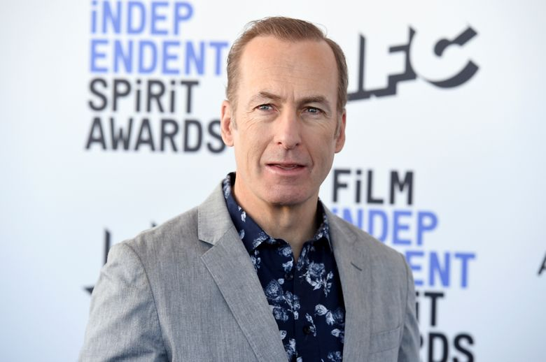 """FILE – Bob Odenkirk arrives at the 35th Film Independent Spirit Awards on Feb. 8, 2020, in Santa Monica, Calif. The """"Better Call Saul"""" star says he """"had a small heart attack"""" but will """"be back soon."""" The 58-year-old actor took to Twitter Friday, July 30, 2021, to make his first public statement since collapsing on the show's New Mexico set three days earlier. (Photo by Jordan Strauss/Invision/AP, File)"""