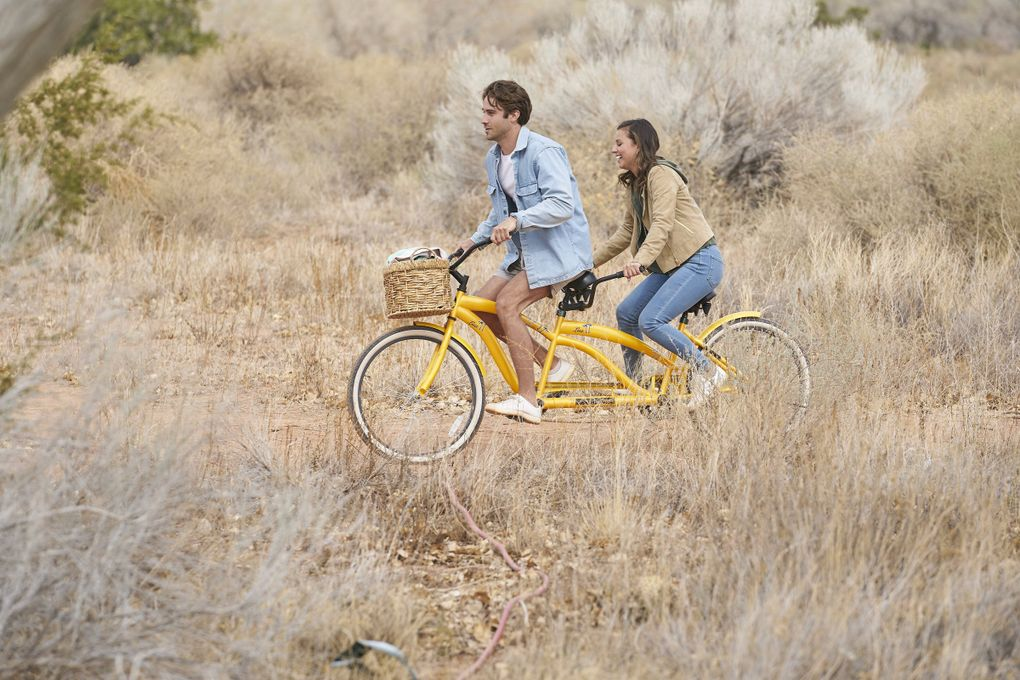 """Greg Grippo and Katie Thurston in happier times before things got DRAMATIC on Monday night's episode of """"The Bachelorette."""" (Craig Sjodin / ABC)"""
