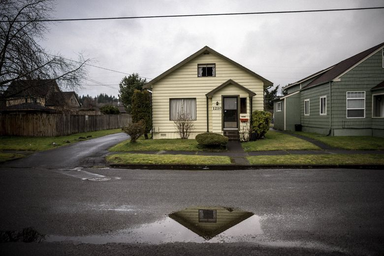 One of Kurt Cobain's childhood homes in Aberdeen has been placed spot on Washington state's Heritage Register. (Stuart Isett / The New York Times, 2014)