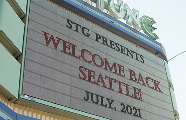 The Seattle Theatre Group's Neptune Theatre hosted a reopening concert series in July. Starting Aug. 12, STG is requiring proof of vaccination for those attending shows at the Neptune, Moore and Paramount theaters. (Courtesy of Seattle Theatre Group)