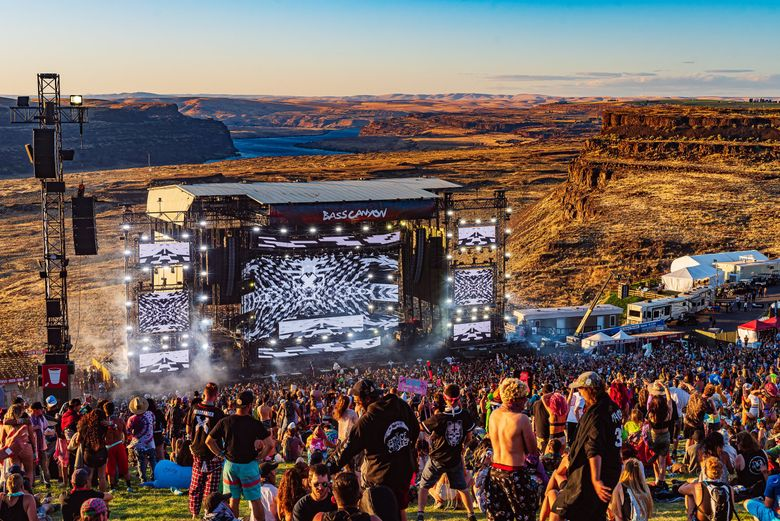 Bass Canyon at the Gorge in 2019. This year's Bass Canyon festival at the Gorge is scheduled for Aug. 20-22. (Jake West Photo)