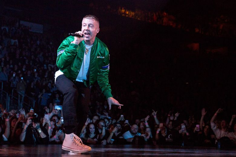 Macklemore will perform at the Seahawks' home opener Sept. 19.   (Courtney Pedroza / The Seattle Times)