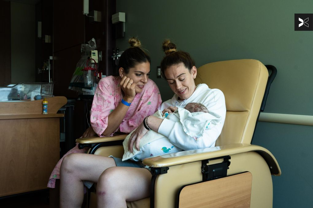 Breanna Stewart and her wife Marta Xargay announced the birth of baby Ruby. (Anna Burns / for TOGETHXR)