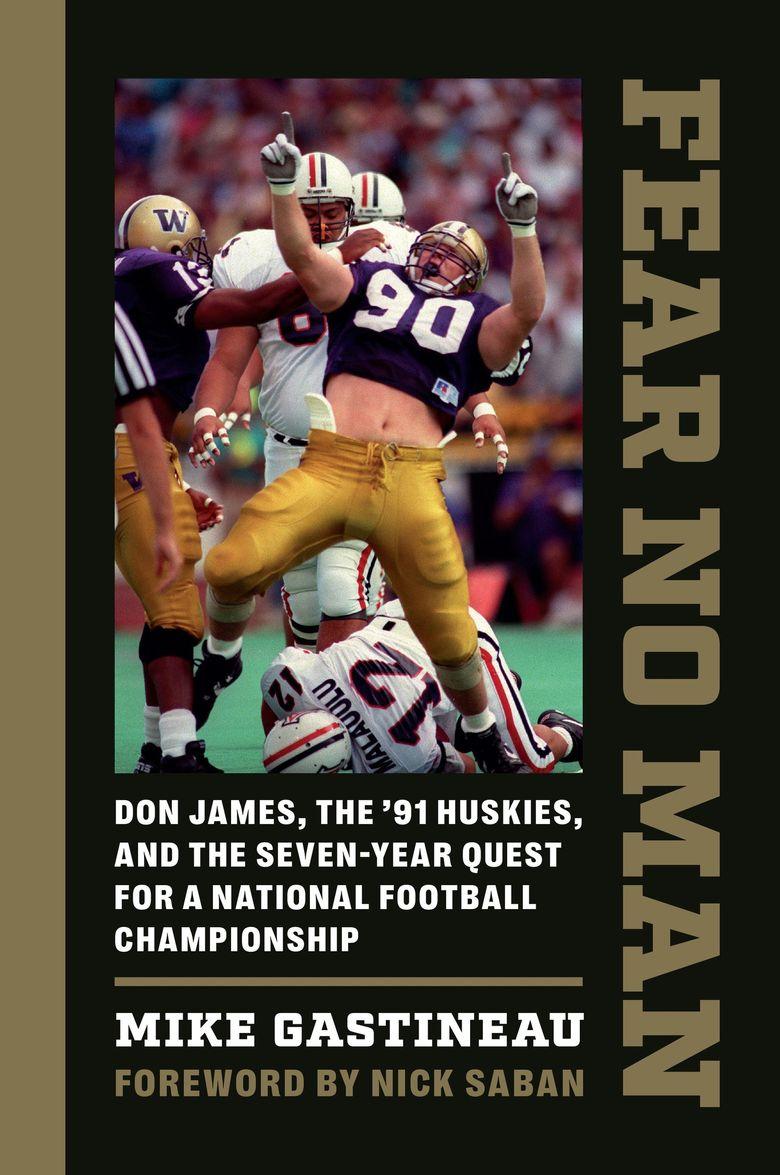 The cover of Mike Gastineau's latest book, on the 1991 University of Washington football team.  (University of Washington Press)
