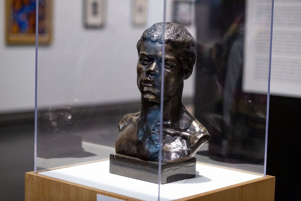 """May Howard Jackson's """"Portrait Bust of an African"""" sits in The Kinsey African American Art & History Collection at the Tacoma Art Museum. """"With this bust, Jackson shows off the gentleness, the uniqueness, the strength of this unnamed person,"""" says Seattle Times writer Crystal Paul. (Sylvia Jarrus / The Seattle Times)"""