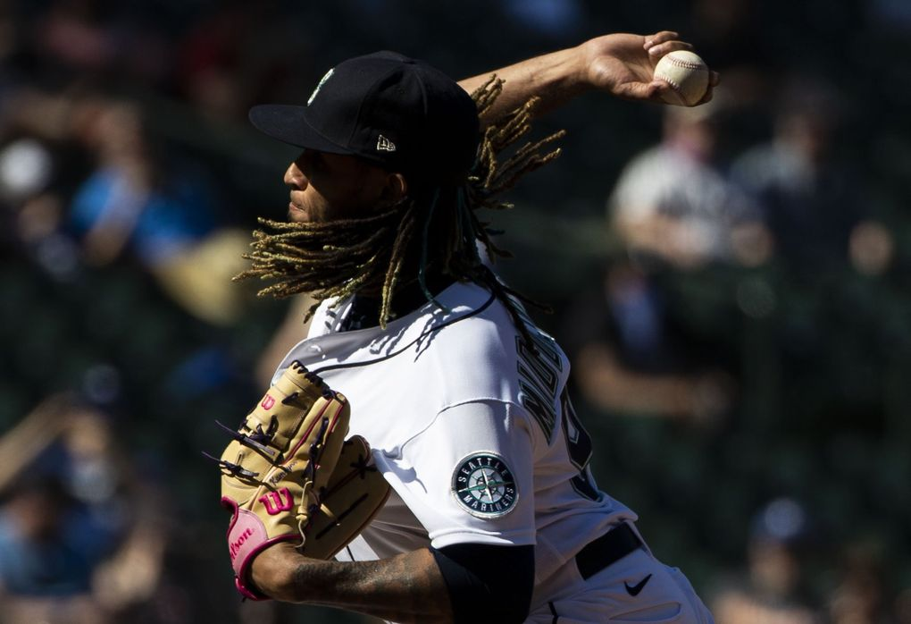 Keynan Middleton was designated for assigment by the Mariners. (Amanda Snyder / The Seattle Times)