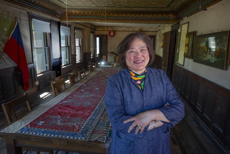 Beth Takekawa retired from Wing Luke Museum last month after 14 years as executive director and more than 20 years at the museum. (Ellen M. Banner / The Seattle Times)