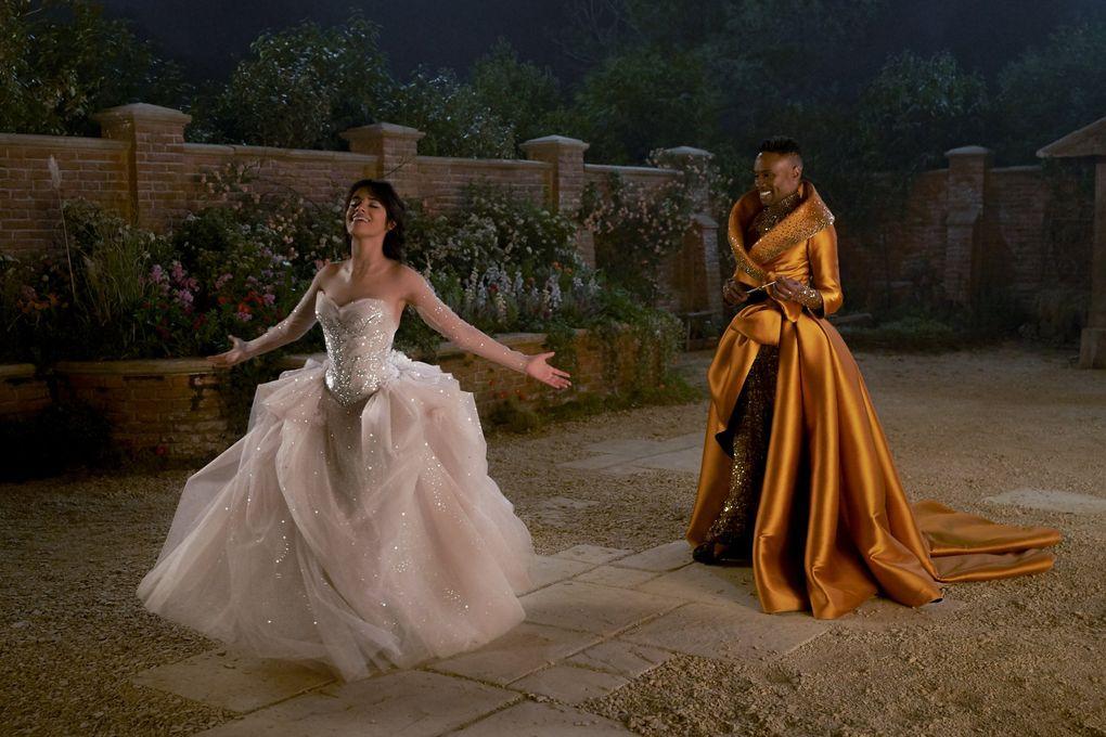 "Camilla Cabello and Billy Porter in ""Cinderella.""  (Kerry Brown / Amazon Studios)"