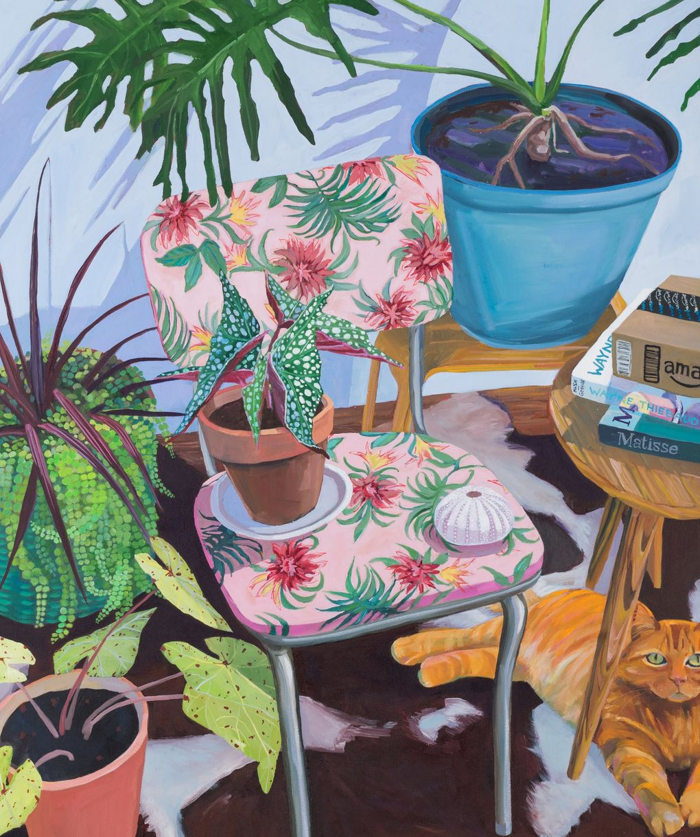"""Still life painting takes on a new meaning amid the pandemic, as in Rachel Campbell's """"Precious Little Things."""" (Courtesy of ZINC Contemporary)"""