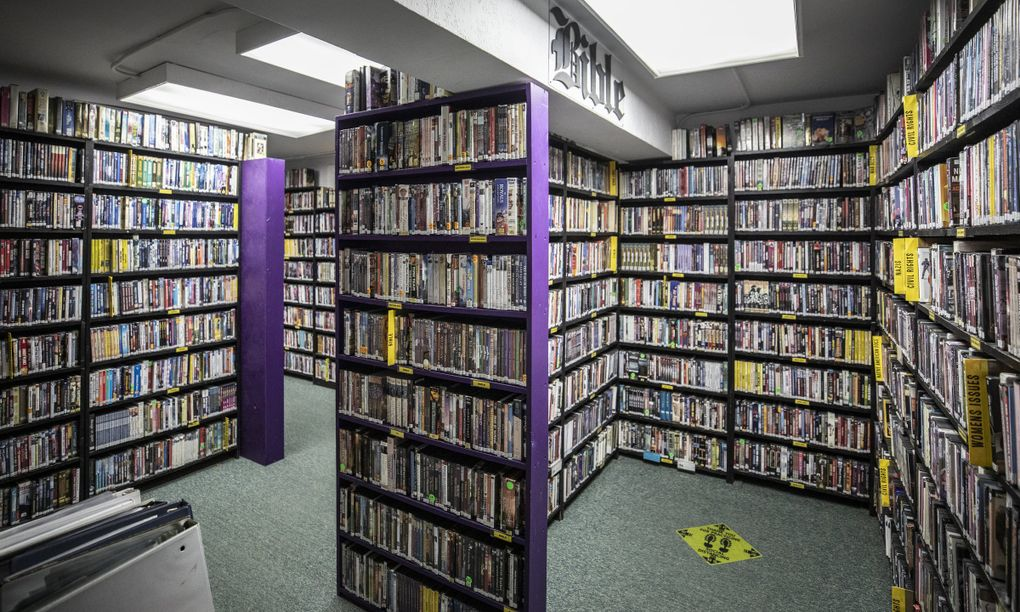 Scarecrow Video has approximately 140,000 titles on physical media. (Steve Ringman / The Seattle Times)