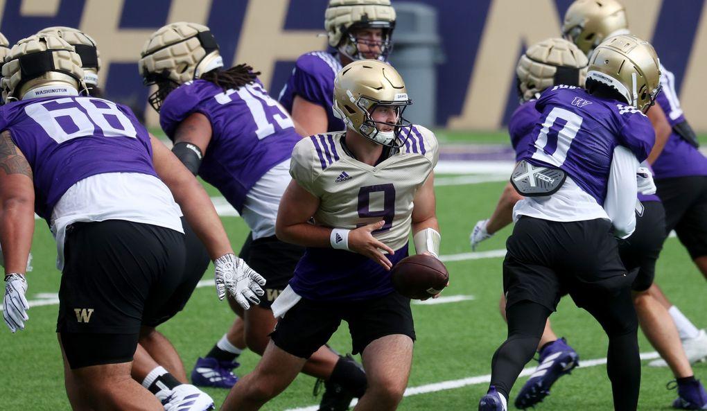 Quarterback Dylan Morris showed resiliency during his first season as a starter. (Ken Lambert / The Seattle Times)