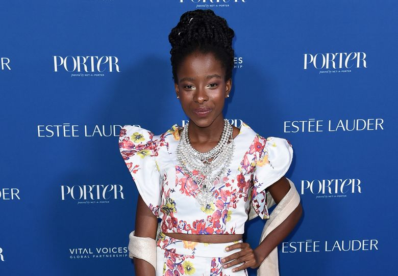 """FILE – Amanda Gorman attends Porter's 3rd Annual Incredible Women Gala on Oct. 9, 2018, in Los Angeles. Gorman, who became world famous in January after reading """"The Hill We Climb"""" at President Joe Biden's inauguration, and Penguin Random House have established the Amanda Gorman Award for Poetry, a $10,000 prize for public high school students who submit the best original work. (Photo by Richard Shotwell/Invision/AP, File)"""