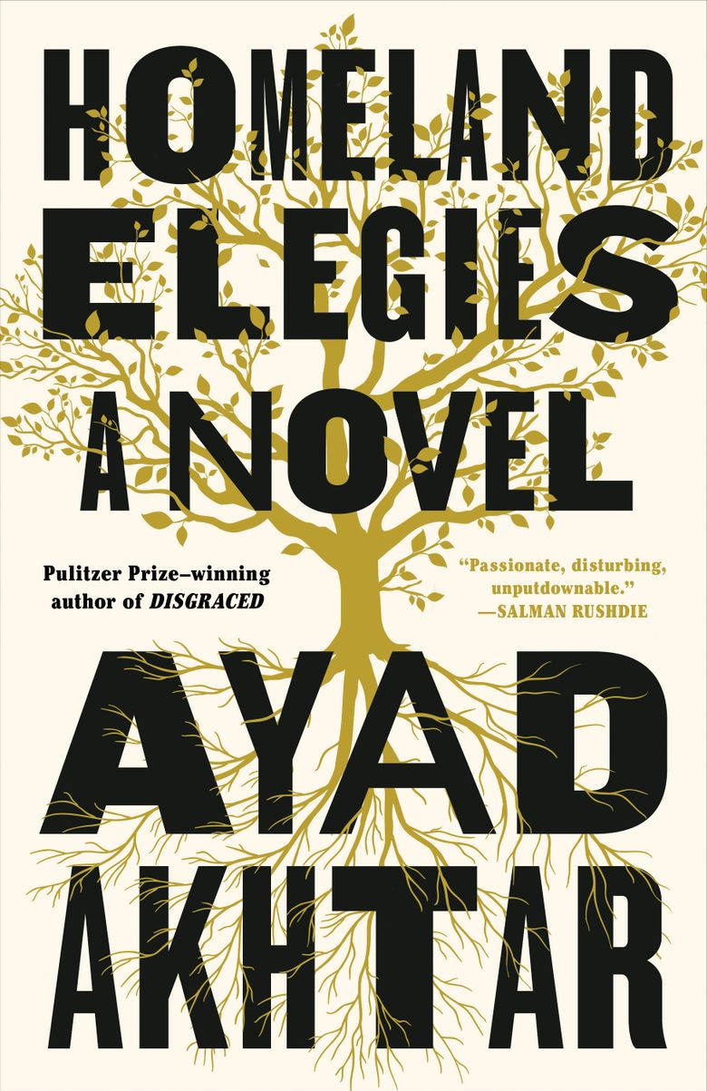 """This cover image released by Little, Brown and Co. shows """"Homeland Elegies,"""" a novel by Ayad Akhtar. Akhtar's acclaimed novel """"Homeland Elegies,"""" Ben Ehrenreich's environmental warning """"Desert Notebooks"""" and an illustrated edition of the late William Melvin Kelley's postmodern narrative """"Dunfords Travels Everywhere"""" are among this year's winners of American Book Awards for works that highlight the country's diversity.  (Little, Brown and Co. via AP)"""
