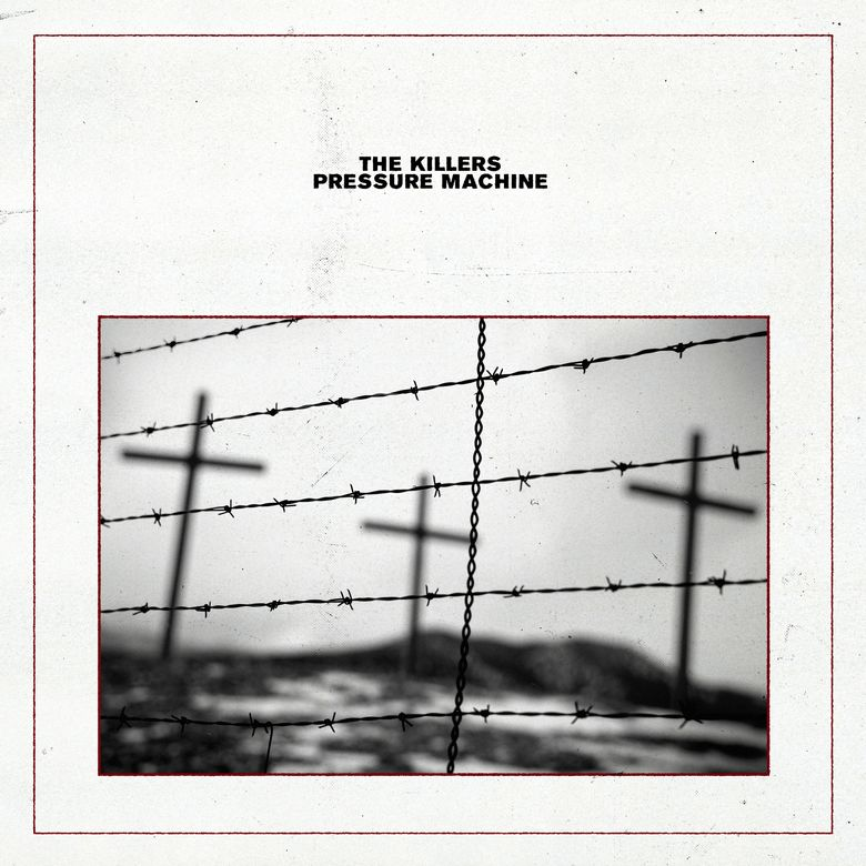 """This album cover provided by Island Records shows """"Pressure Machine"""" by The Killers. (Island Records via AP)"""
