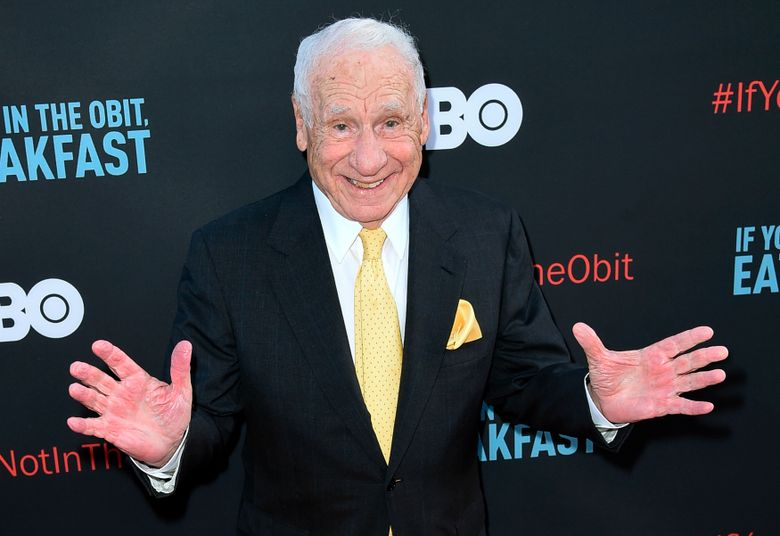 """FILE – In this May 17, 2017 file photo, Mel Brooks attends the LA Premiere of """"If You're Not In The Obit, Eat Breakfast"""" in Beverly Hills, Calif. Brooks has a memoir coming in November. It's called """"All About Me! My Remarkable Life in Show Business.""""  (Photo by Richard Shotwell/Invision/AP, File)"""