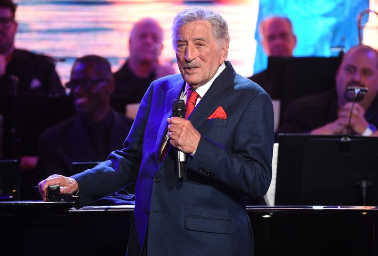 FILE – Tony Bennett performs at the Statue of Liberty Museum opening celebration on May 15, 2019, in New York. Bennett has canceled his fall and winter 2021 tour dates. The legendary crooner is pulling out of concerts in New York, Maryland, Connecticut, Arizona, Oklahoma and Canada. Ticket holders should check with the local venues for information regarding refunds. (Photo by Evan Agostini/Invision/AP, File)