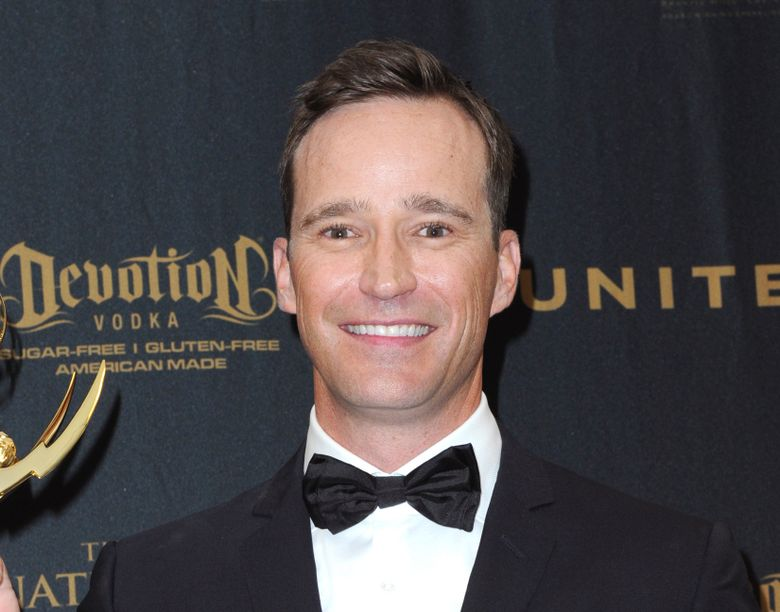 """FILE – Producer Mike Richards poses in the pressroom at the 43rd annual Daytime Emmy Awards on May 1, 2016, in Los Angeles. Richards stepped down as host of """"Jeopardy!"""" after a report about past misogynistic comments surfaced this week. He was chosen last week as the successor to Alex Trebek, but his selection was seen as divisive from the beginning after the show embarked on a broad search that included actors, sports figures, journalists and celebrities. (Photo by Richard Shotwell/Invision/AP, File)"""