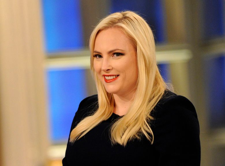 """This July 17, 2018 image released ABC shows Meghan McCain on the set of """"The View,"""" in New York. McCain made a low-key departure from """"The View"""" after four years on Friday. (Paula Lobo /ABC via AP)"""