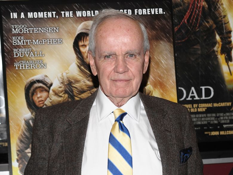 """FILE – Author Cormac McCarthy attends the premiere of """"The Road"""" in New York on Nov. 16, 2009. The Twitter account for the famous, and famously media-shy author is fake. The McCarthy account, @CormacMcCrthy, had more than 48,000 followers as of midday Monday, among them Stephen King. It was established in September 2018, but was only recently given a blue check for verification. (AP Photo/Evan Agostini, File)"""