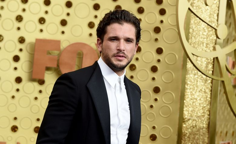 """FILE – Kit Harington arrives at the 71st Primetime Emmy Awards on Sept. 22, 2019, in Los Angeles. The """"Game of Thrones"""" actor appears in the second season of """"Modern Love,"""" in which he plays a tech worker and a hopeful romantic dazzled by a woman he meets on a train. The season premieres on Wednesday, Aug. 11, 2021, on Amazon Prime. (Photo by Jordan Strauss/Invision/AP, File)"""