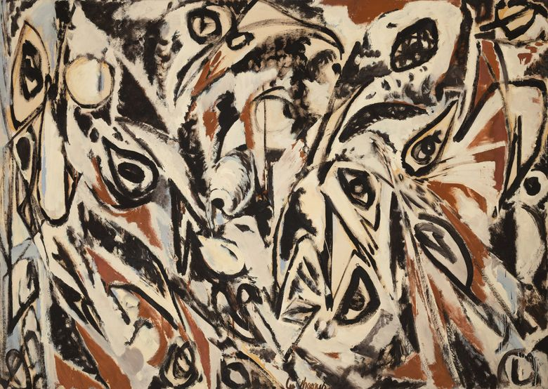 """Lee Krasner's """"Night Watch,"""" from 1960, will be on view starting Oct. 15 as part of """"Frisson,"""" Seattle Art Museum's exhibition featuring works from the Lang collection. (Spike Mafford / Zocalo Studios / Courtesy of the Friday Foundation)"""