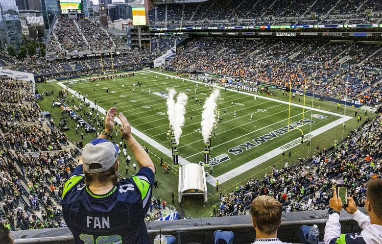 Seahawks fans returned to Lumen Field for the first time in two seasons when the Denver Broncos played the Seattle Seahawks in a preseason game Aug. 21. (Dean Rutz / The Seattle Times)