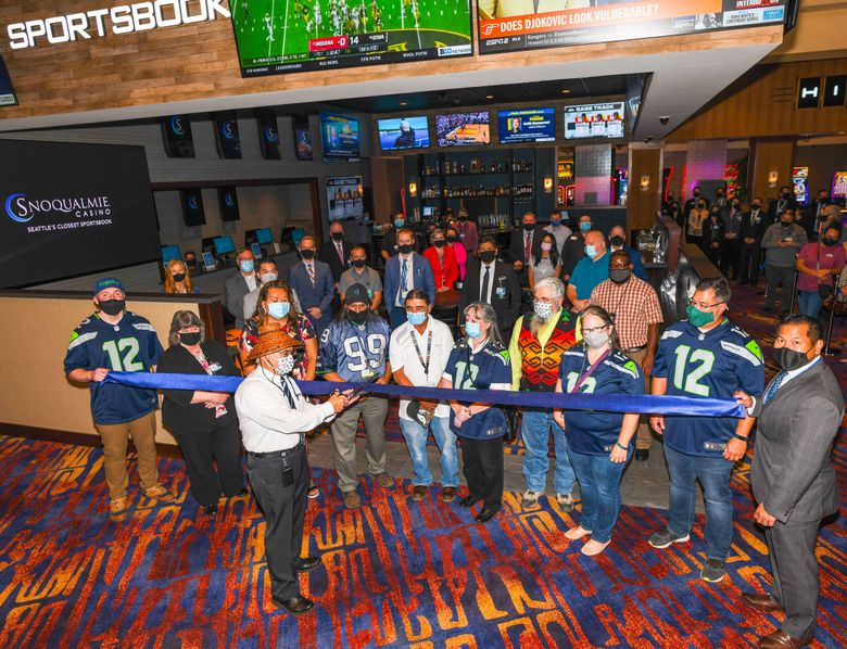 Snoqualmie Casino held a ribbon-cutting ceremony Tuesday for its new sportsbook.   (Courtesy of Snoqualmie Casino)