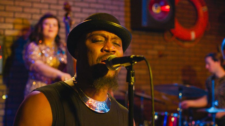 """The singer okanomodé performs in the movie """"Thin Skin,"""" part of the Local Sightings Film Festival. (Sean Kirby)"""