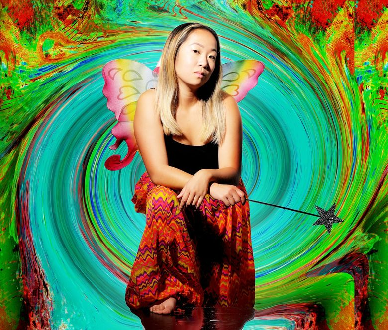"""Pearl Lam in """"Dear LSD Fairy,"""" livestreaming on Sept. 17. It's part of Macha Theatre Works' 17 Minute Stories series. (Joe Iano Photography)"""