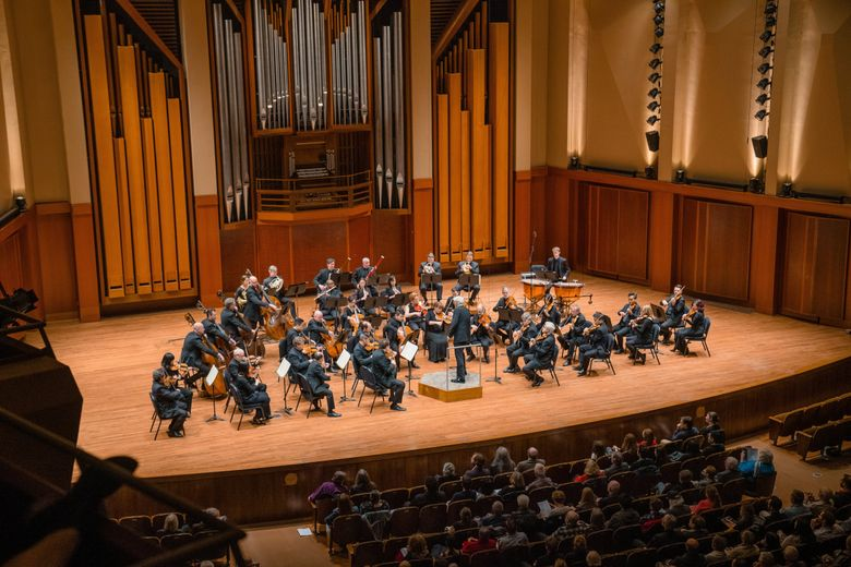 Seattle Symphony's new season begins with an opening-night concert Sept. 18 and opening-weekend festivities Sept. 19 that includes a free concert.  (Brandon Patoc)