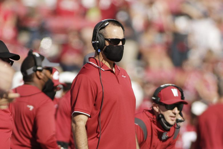 Nick Rolovich, Washington State head coach, at the game against Portland State on Sept. 11 in Pullman, Wash. (Young Kwak / AP)