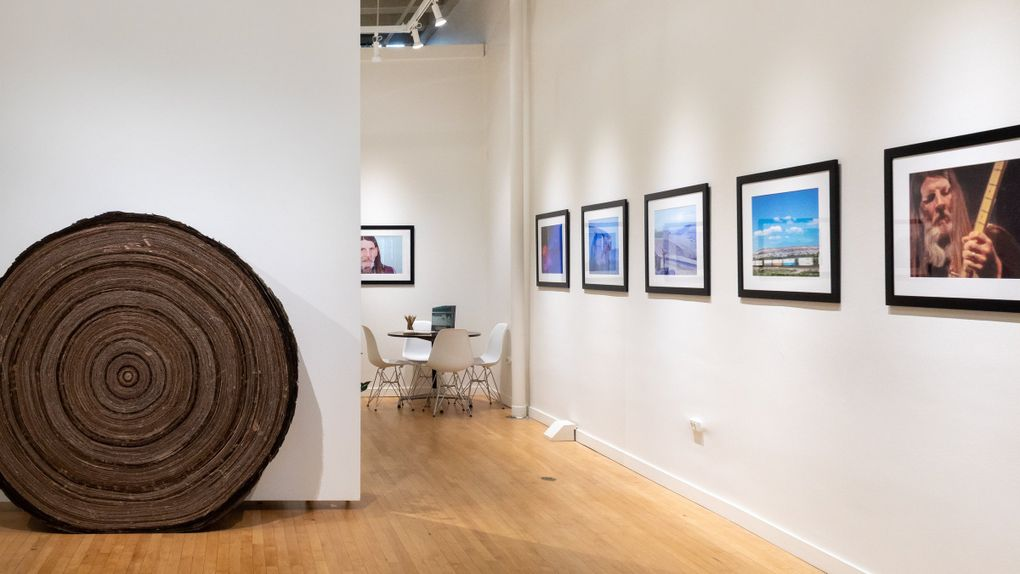 """Installation view of Clyde Petersen's new show, """"Even Hell Has Its Heroes,"""" which opened Sept. 18 at J. Rinehart Gallery.  (Courtesy of J. Rinehart Gallery)"""