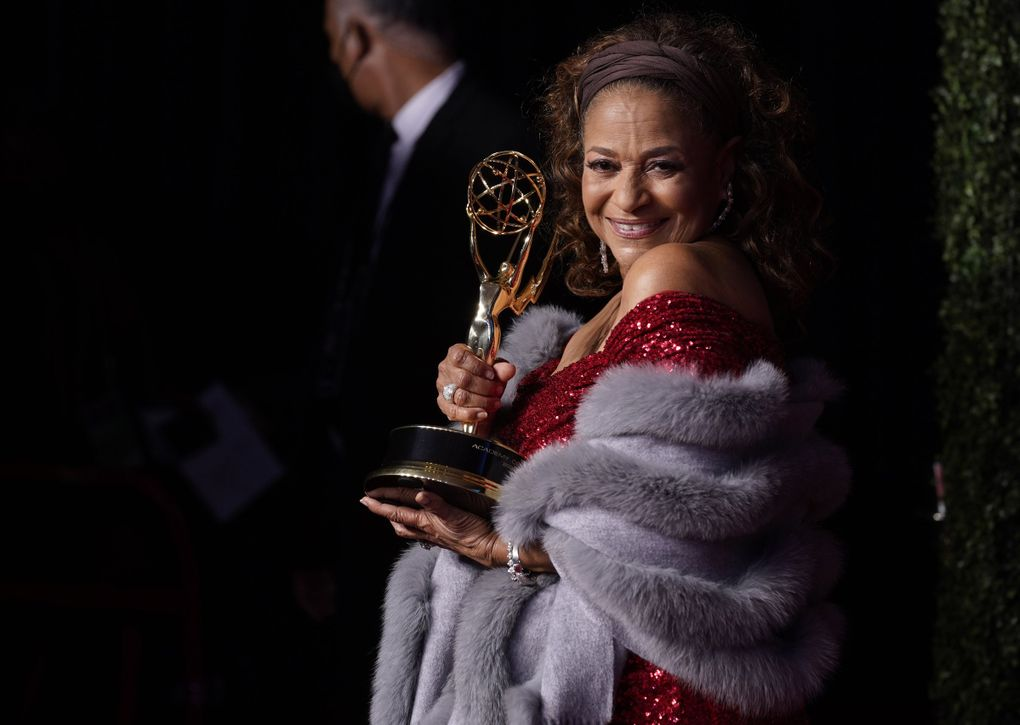 Debbie Allen, winner of the governors award poses at the 73rd Primetime Emmy Awards on Sunday, Sept. 19, 2021 (Chris Pizzello / Invision / AP)