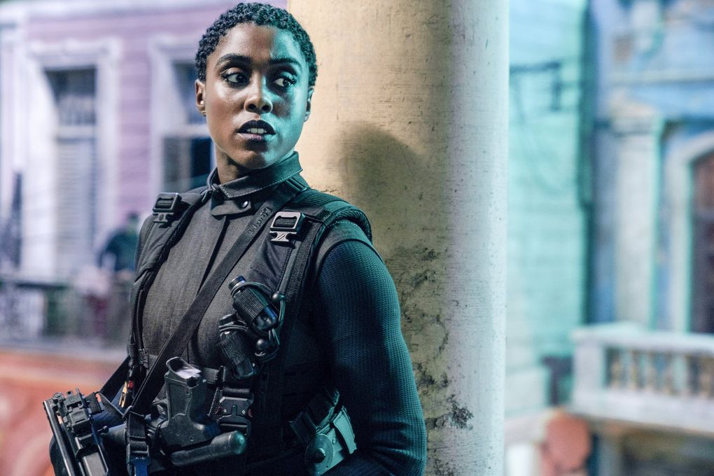 """Lashana Lynch in """"No Time to Die."""" (Nicola Dove / Metro Goldwyn Mayer Pictures)"""