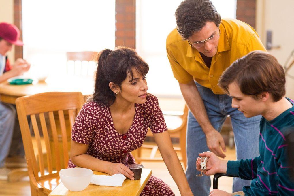 "Sarah Shahi, Ashley Zukerman and Keiran Walton in ""Language Arts."" (Annabel Clark)"