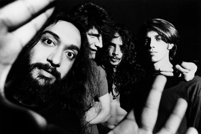 Soundgarden, pictured in a 1991 promotional photo, from left: Kim Thayil, Ben Shepherd, Chris Cornell, Matt Cameron. (Lavine)