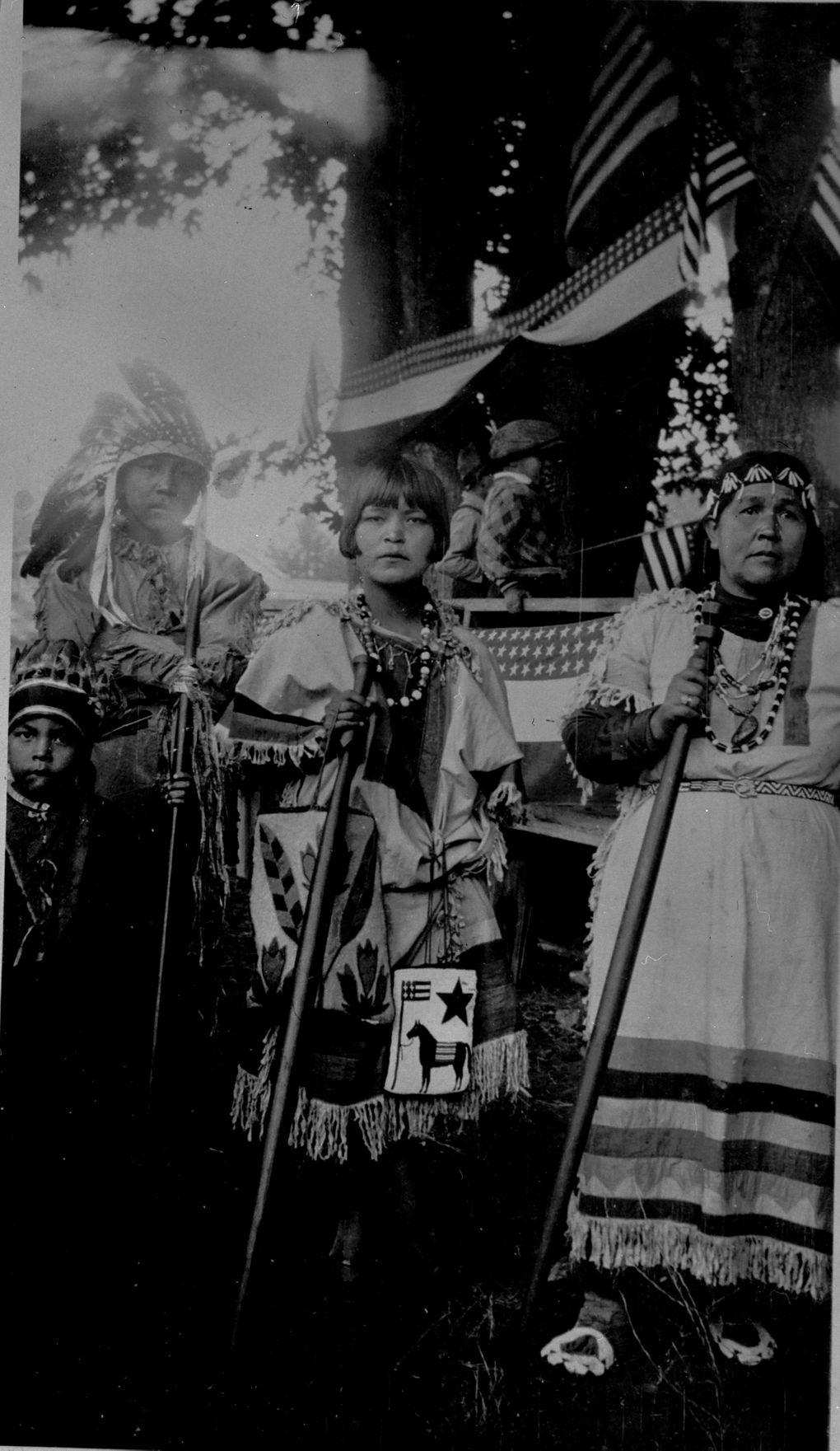 This 1920s photo of chef Seattle Days features Lucy Snyder Mulholland, center, and Amelia Sneatlum, right.  (Suquamish Museum Archives)