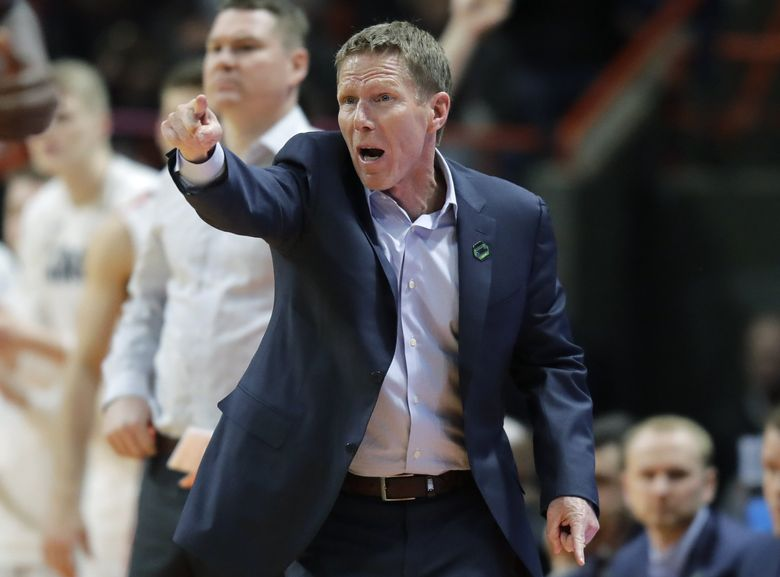 In this March 17, 2018 file photo, Gonzaga men's basketball coach Mark Few calls to his team during the second half of a second-round game against Ohio State in the NCAA tournament in Boise, Idaho. (Ted S. Warren / AP)