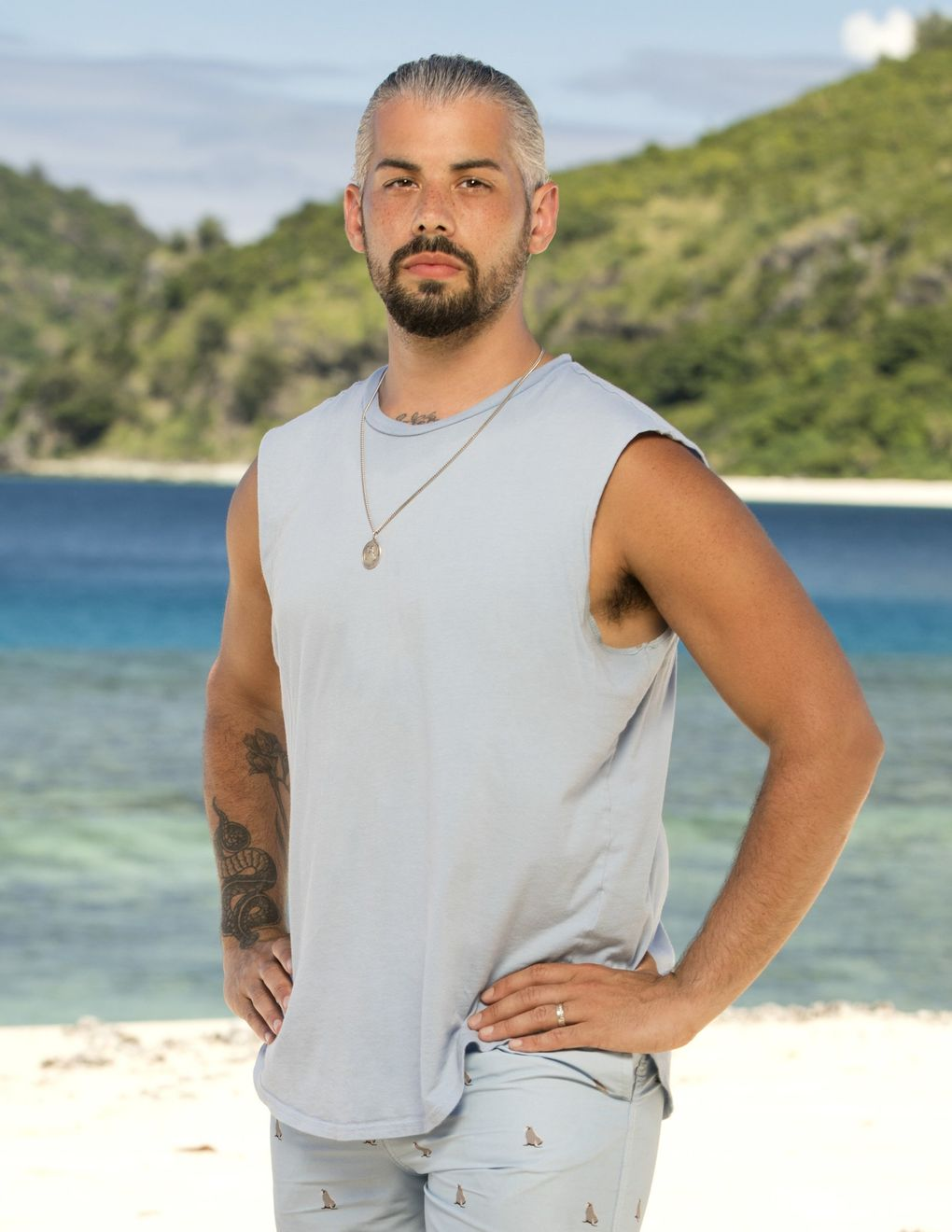 "Ricard Foyé, of Sedro-Woolley, competes on the 41st season of CBS' ""Survivor,"" starting Sept. 22. (Robert Voets / CBS Entertainment)"