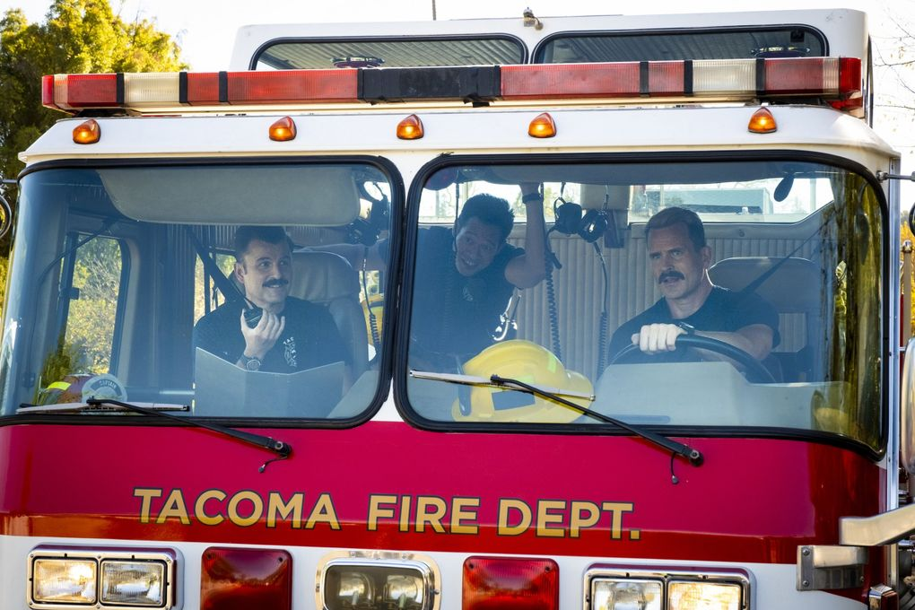 """Steve Lemme, Marcus Henderson and Gabriel Hogan in Tru TV's """"Tacoma FD,"""" which returned for its third season Sept. 16. (Courtesy Tru TV)"""