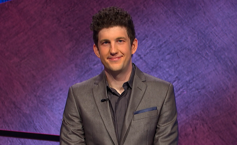This image provided by Jeopardy! Productions Inc. shows contestant Matt Amodio. (Jeopardy! Productions Inc. via AP)