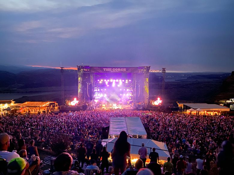 Dave Matthews Band resumed its tradition of Labor Day weekend takeovers at the Gorge Amphitheatre in dramatic fashion. (Michael Rietmulder / The Seattle Times)