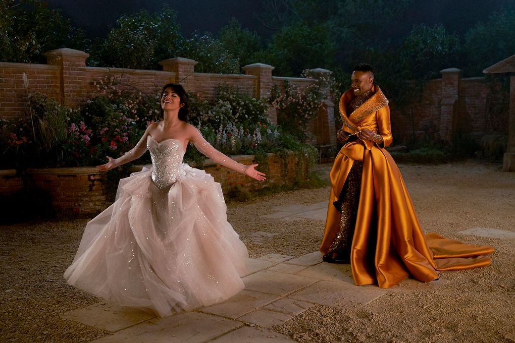 "Camila Cabello and Billy Porter in ""Cinderella."" (Kerry Brown / Amazon Studios)"