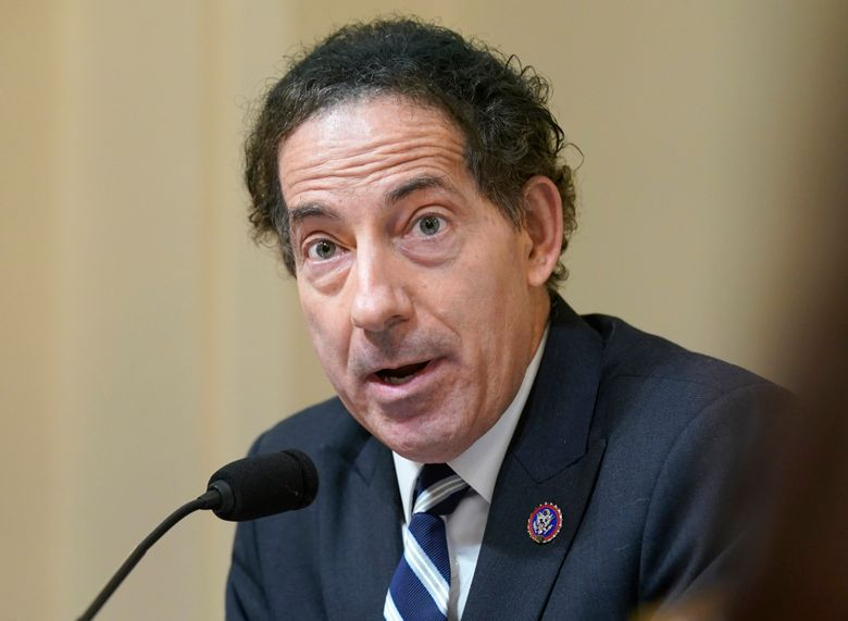 """FILE – Rep. Jamie Raskin, D-Md., speaks during the House select committee hearing on the Jan. 6 attack on Capitol Hill in Washington, on July 27, 2021. Raskin is working on a memoir in which he will reflect on the Jan. 6 siege of the Capitol and the death of his 25-year-old son. The book is called """"Unthinkable: Trauma, Truth, and the Trials of American Democracy,"""" which Harper will publish Jan. 4, 2022.  (AP Photo/ Andrew Harnik, Pool)"""