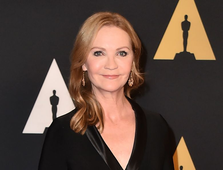 """FILE – Joan Allen arrives at the Governors Awards at the Dolby Ballroom on Nov. 14, 2015, in Los Angeles.Allen will narrate the audiobook  for """"State of Terror,"""" the political thriller co-written by Hillary Clinton and Louise Penny, releasing Oct. 12.  (Photo by Jordan Strauss/Invision/AP, File)"""