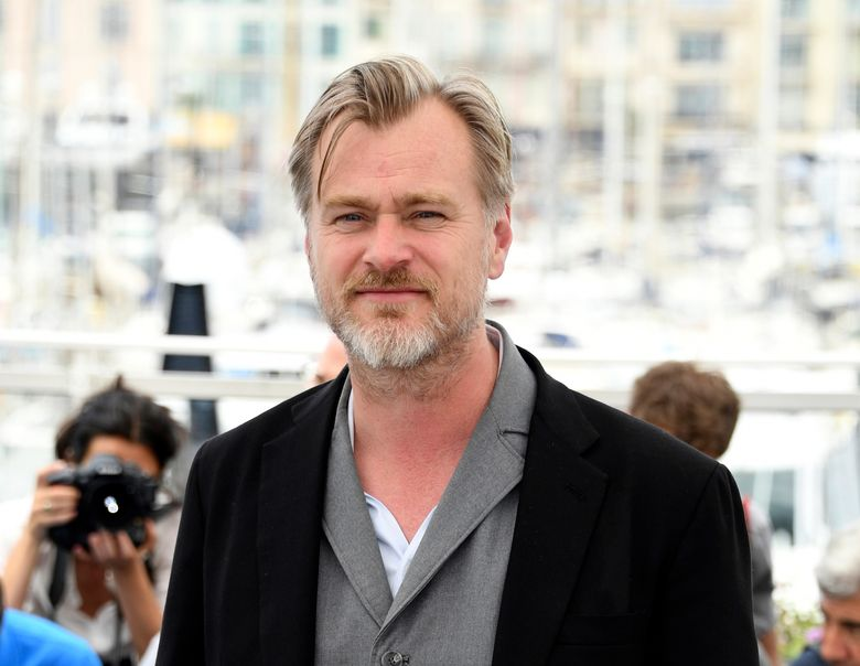 FILE – Director Christopher Nolan poses during a photo call at the 71st international film festival, Cannes, southern France on May 12, 2018. After a public fallout over release strategy with Warner Bros., Nolan's next film, about J. Robert Oppenheimer and the development of the atom bomb, will be released by Universal Pictures. (Photo by Arthur Mola/Invision/AP, File)