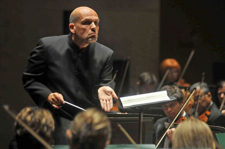 FILE – In this Sept. 29, 2011, file photo, Jaap van Zweden conducts the Dallas Symphony Orchestra in Dallas. Van Zweden will leave the New York Philharmonic at the end of the 2023-24 season after six years as music director, the shortest tenure of anyone in a half-century. Van Zweden informed the orchestra at the end of a rehearsal Wednesday, Sept. 15, 2021, two days before the orchestra resumes performances after an 18-month stoppage. (Mark M. Hancock/The Dallas Morning News via AP, File)