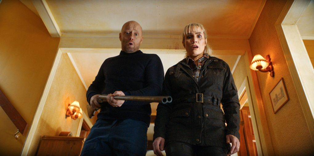 """Aksel Hennie and Noomi Rapace in """"The Trip.""""  (Netflix)"""
