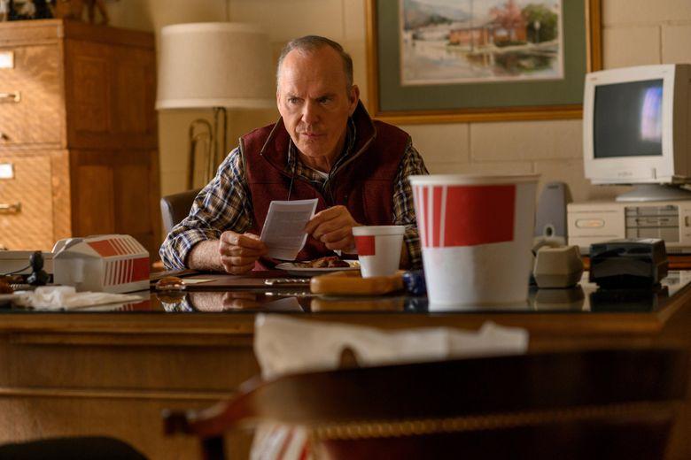 "Michael Keaton stars in the limited series drama ""Dopesick.""  (Antony Platt / Hulu)"
