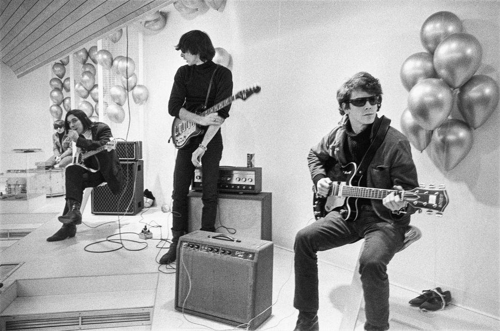 """Moe Tucker, John Cale, Sterling Morrison and Lou Reed in """"The Velvet Underground.""""  (Nat Finkelstein / Apple TV+)"""